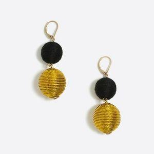 J. Crew Lantern Black and Gold Earrings